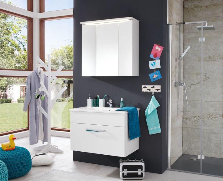 spiegelschrank holz badezimmer 97 cm breit wohndesign. Black Bedroom Furniture Sets. Home Design Ideas