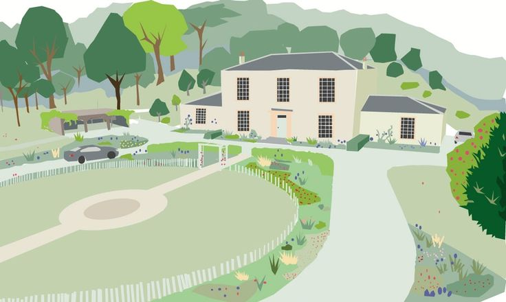 Kean's cottage, Loch Fad - preliminary sketch - Mount Stuart, Isle of Bute - Ian White Associates Landscape Architects iwastirling