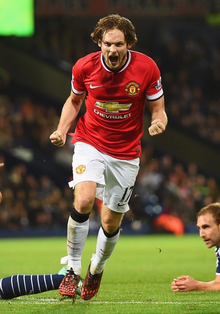 Daley Blind's strike ensured a 2-2 draw. Vs West Brom. 20.10.2014.