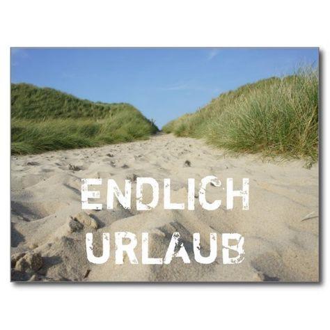 ENDLICH URLAUB Weg zum Strand durch Strandhafer Postkarte