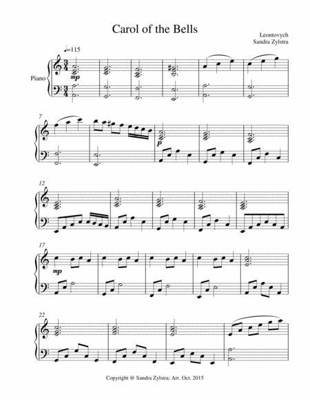 Hear the bells chime out this fun Christmas song played as an instrumental duet with piano ...