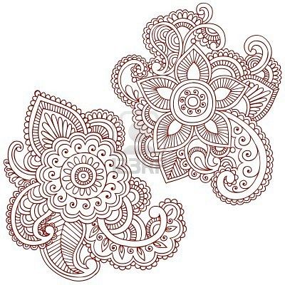 Mehndi paisley I can't afford a tattoo right now, but I'm going to get one anyway.