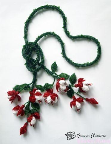 поделки из бисера цветы,