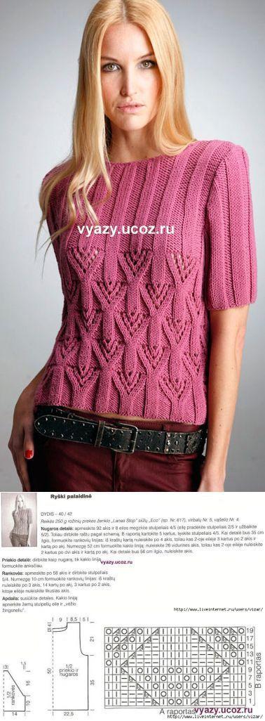 Розовый пуловер.: