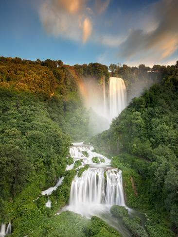 'Italy, Umbria, Terni District, Terni, Marmore Falls, One ...