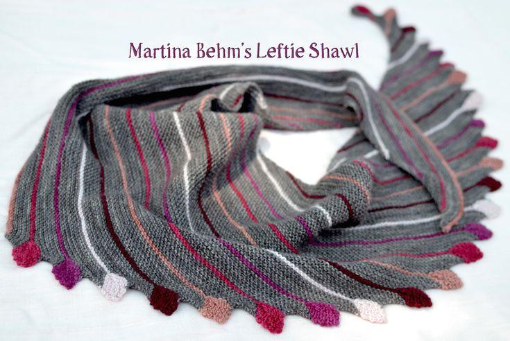 Knitting Martina Behm's Leftie Shawl