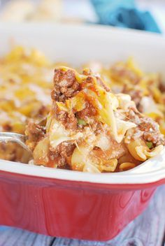Sour Cream Noodle Bake - easy and delicious weeknight meal recipe!