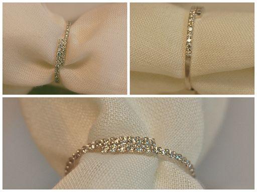 MEDIA ALIANZA ORO BLANCO Y DIAMANTES 0.13KT (30 diamantes de 1.3mm aprox) (486415): 335€ http://www.lacasadeloscarrillones.blogspot.com.es/