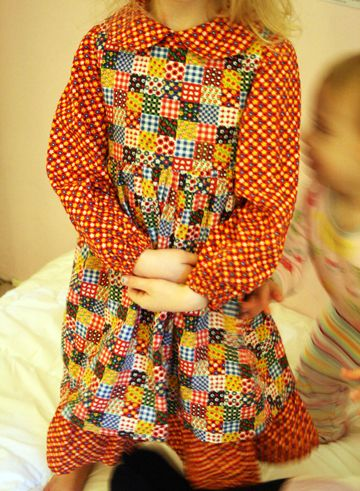 Plaids and patchwork dresses.