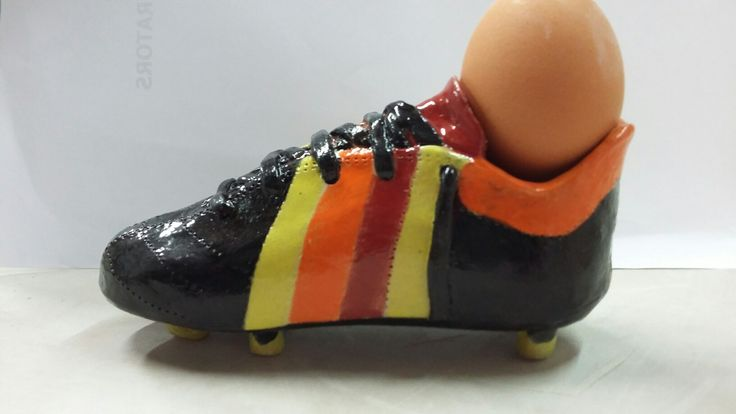 Soccer Boot by Natalie Melling-Williams. Earth Play Studio.  Ceramic. Photo by Lissa Claassens