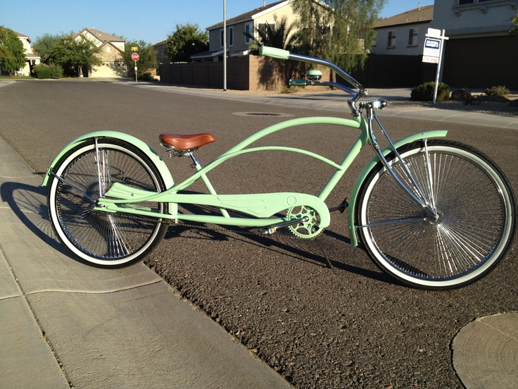 Mint Green Stretch Beach Cruiser Cruisers Chopper Bike