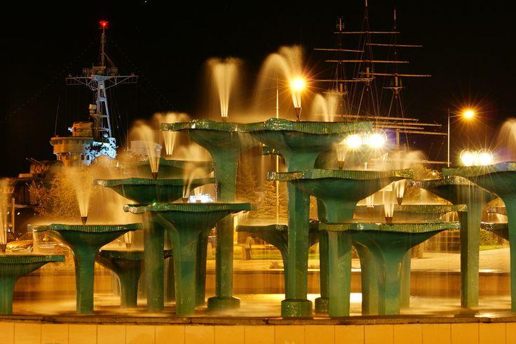 Fountains in Gdynia, Poland