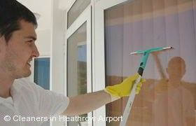 Window Cleaning in Heathrow Airport