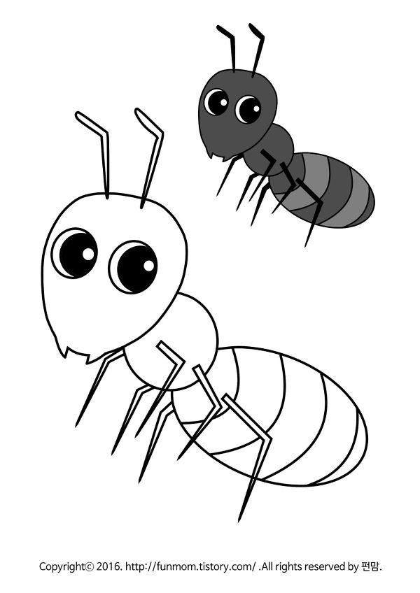 달팽이 무당벌레 개미 잠자리 곤충색칠공부 색칠 공부 자료 무당벌레 개미