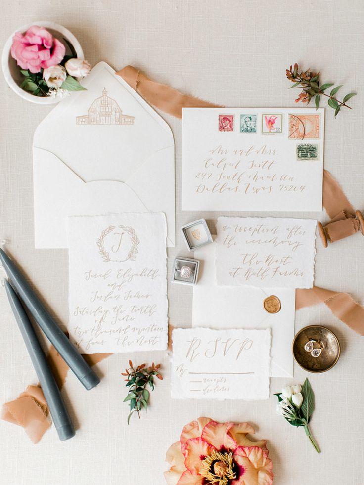 Charming rustic fine art wedding invitations 20