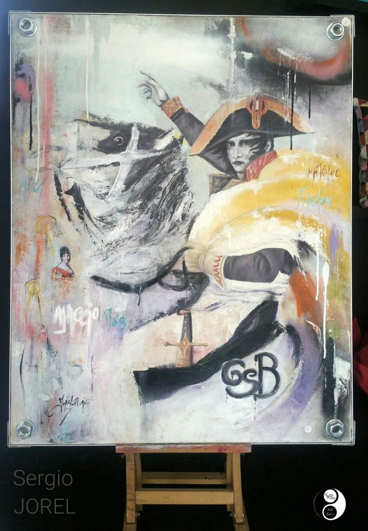 "Sergio JOREL ""Napoléon"" en Expo AA'Zart'S  #napoleon #peinture"