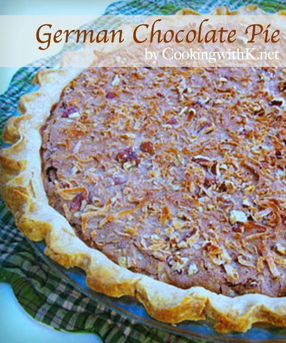 Cooking with K: German Chocolate Pie, {Granny's Recipe}