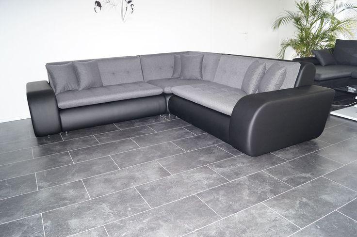 Inspirational NEU ECKCOUCH Sofa COuch Wohnlandschaft Leder IMITAT WEBSTOFF polsterECKe