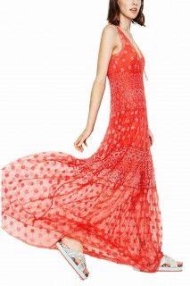 Desigual lososové dlouhé šaty Miravet - 3079 Kč