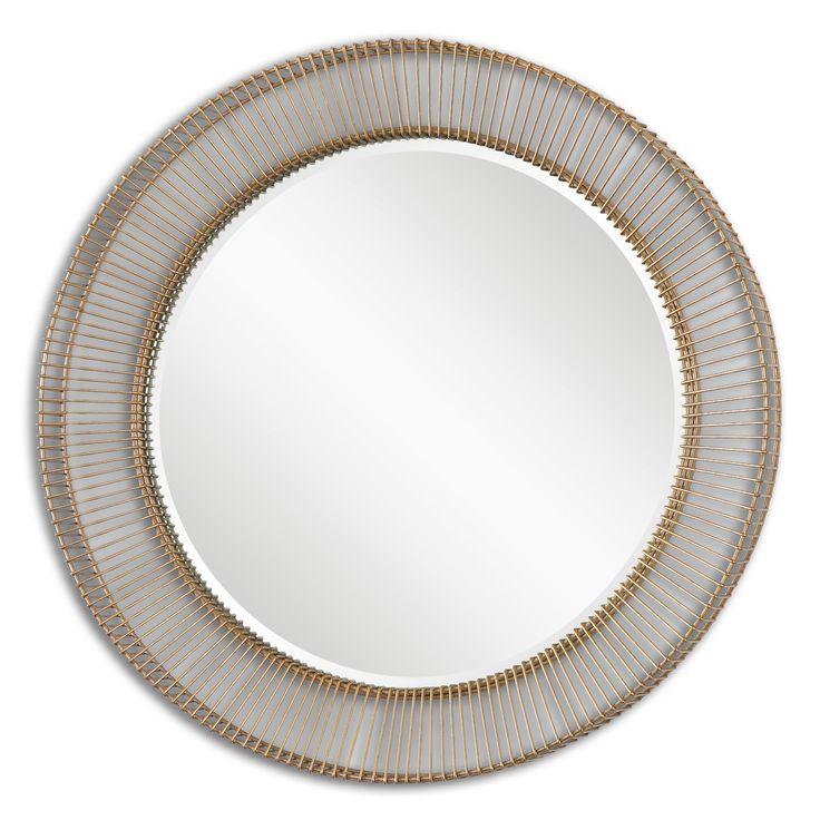 Attractive 34 Inch Round Mirror Part - 4: Uttermost Bricius Round Metal Mirror