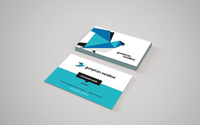 Our business cards! http://www.gumption-swallow.cz/