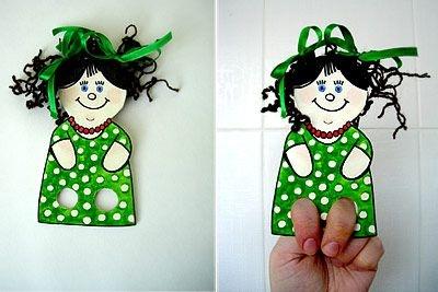 Titeres de papel recortables para niños
