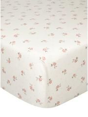Pink Ditsy Floral Print Fitted Sheet