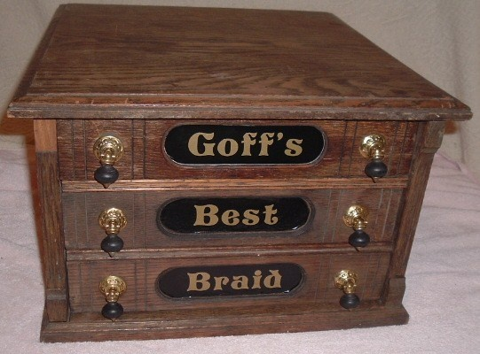 Antique Oak Spool/Thread Cabinet Goff's Best Braid 3 Drawer Case/Chest - 37 Best Antique Spool Cabinets Images On Pinterest Furniture