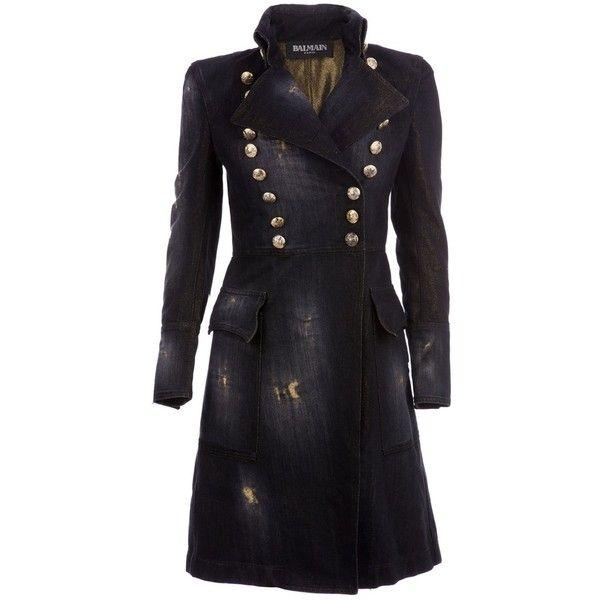 BALMAIN Double breasted coat ($1,970) ❤ liked on Polyvore featuring outerwear, coats, jackets, balmain, coats & jackets, women, balmain coat, pleated coat and double-breasted coat