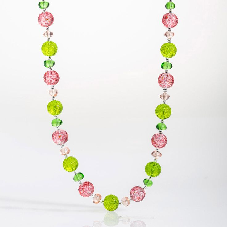 Artico Necklace - Venetian Murano Glass Jewellery for Australia - www.italianheart.com.au