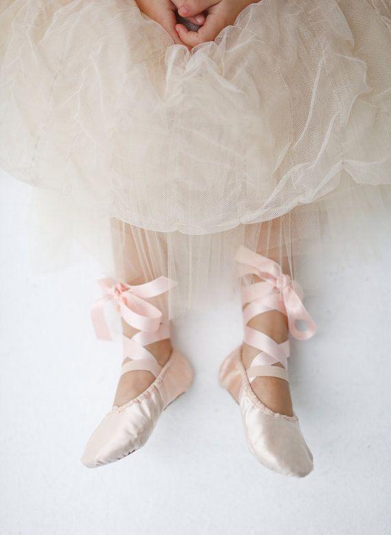 Flower Girl Ballet Shoes