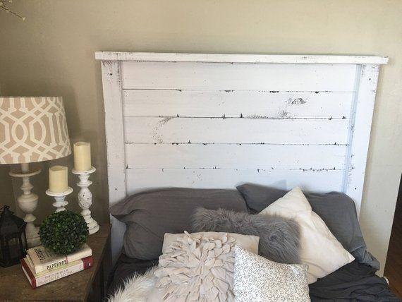Rustic Headboard White Distressed Free Shipping King Headboard