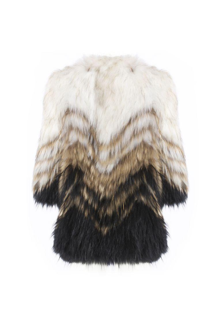 Beatriz coat               Raccoon fur Shop online in www.beniroom.com