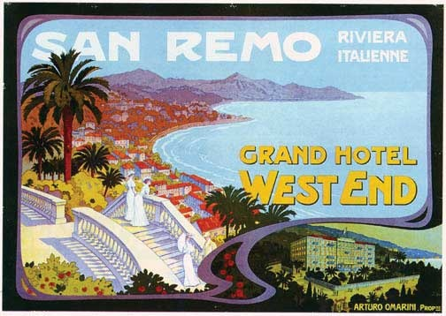 San Remo Riviera Italienne, c 1 9 1 0, Grand Hotel West End. www.varaldocosmetica.it