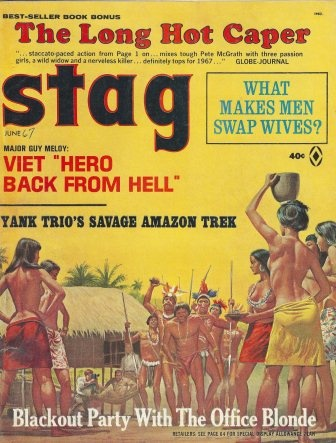 2 1963 issues of STAG with Cover Art by Mort Kunstler