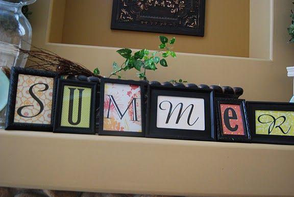 Cute, seasonal mantle decor.: Dollar Stores, Diy Crafts, Summer Dollar, Dollar Store Crafts, Craft Ideas, Diy Projects