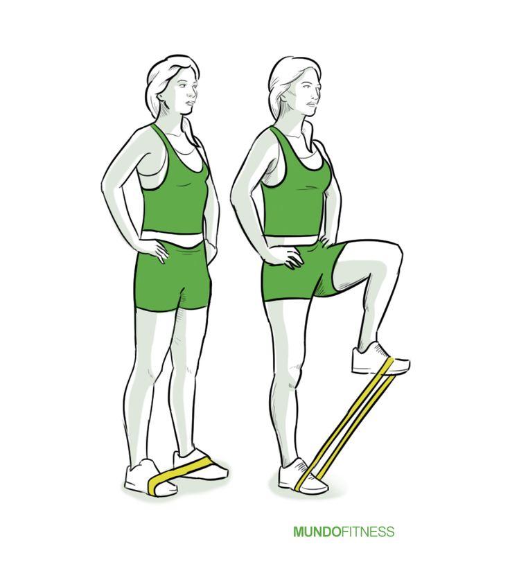 Elevaci n de pierna con banda el stica salud y ejercicio for Mundo fitness gym