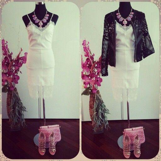 #abito #pizzo #elegante #collana #fashion #scarpe #rosa #spedizione #gratuita