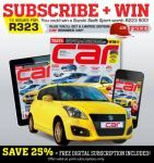 Subscribe stand a chance to win a Suzuki Swift Sport worth R223900 | Ends 31 August 2014