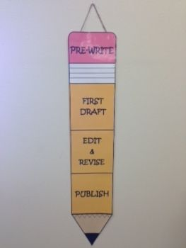 Writing Process Pencil Clip Chart