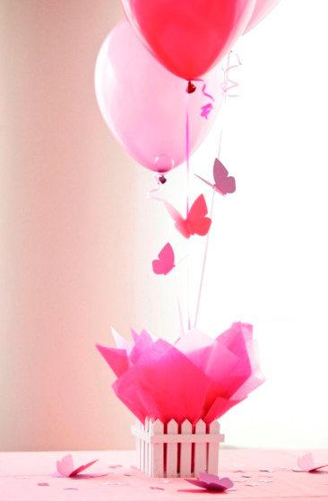 butterfly balloon table decorations
