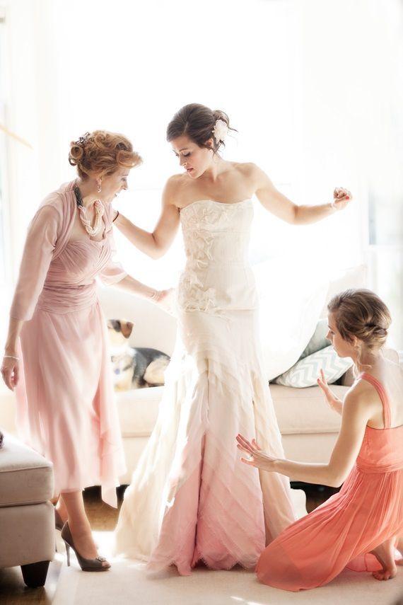 friday five non white wedding dress ideas
