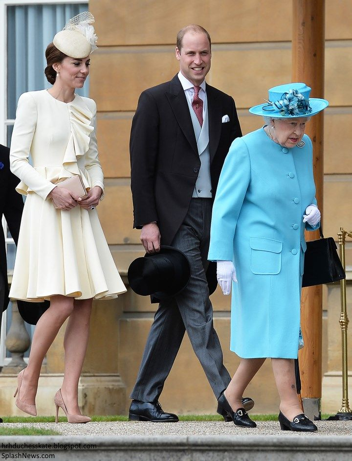 hrhduchesskate:  Garden Party, Buckingham Palace, May 24, 2016-The Duke and Duchess of Cambridge and Queen Elizabeth were among the royals who attended the last garden party of the season at Buckingham Palace