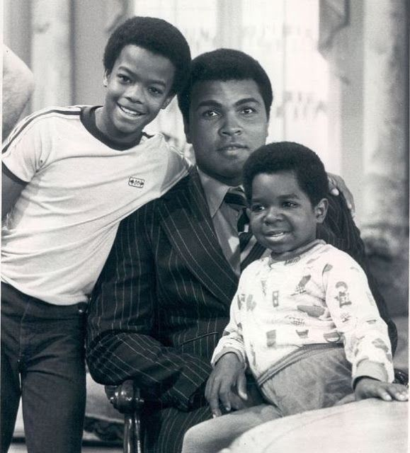 ACTORS GARY COLEMAN AND TODD BRIDGES Hanging out with Muhammad Ali