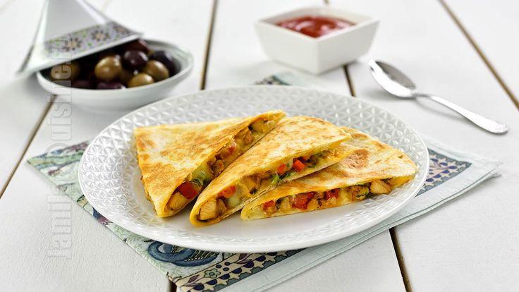 Chicken Quesadilla Recipe (CC Eng Sub) | JamilaCuisine