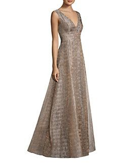 Aidan Mattox - Metallic Ball Gown