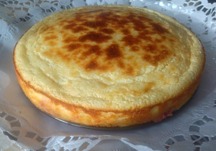 Tarta de queso y frambuesas