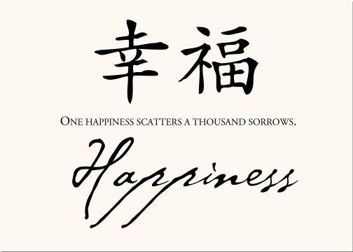 Chinese Symbol - Happiness