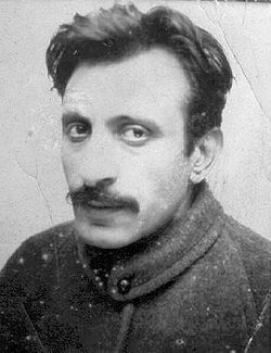 Arshile Gorky (Vosdanig Manoug Adoian), 1904-1948, born in the village of Khorgom, on the shores of Lake Van, in the Ottoman Empire.  He became an Armenian-American painter who had a seminal influence on Abstract Expressionism. By means of his unique approach to color and form, he was able to communicate to the viewer the painful childhood experiences of the Armenian Genocide as well as the pleasant and nostalgic sentiments he felt toward his lost homeland.