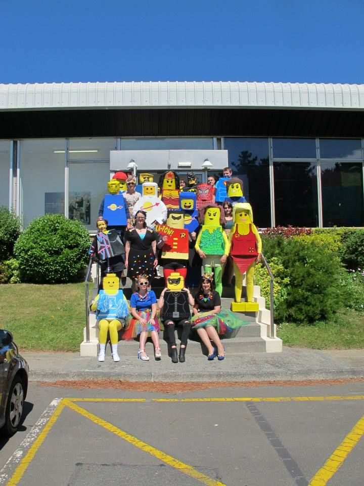 All of us looking awesome in Lego fancy dress